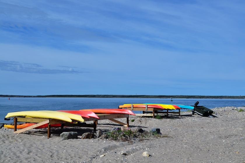 Kajaks an der Hudson Bay