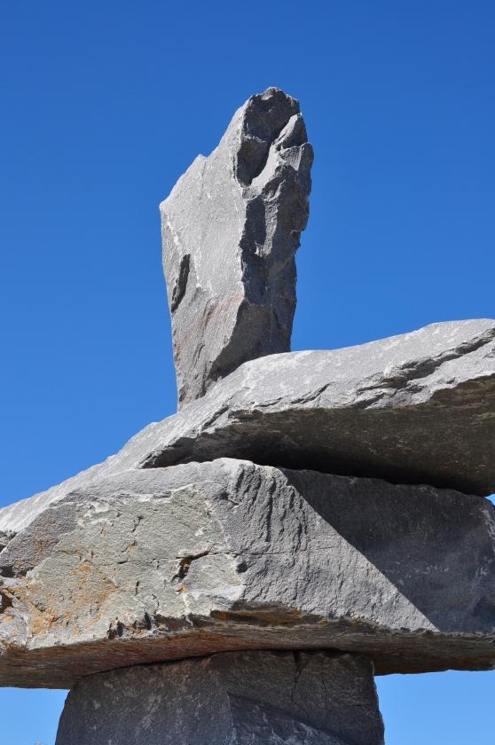 Der Inukshuk von Churchill in Manitoba