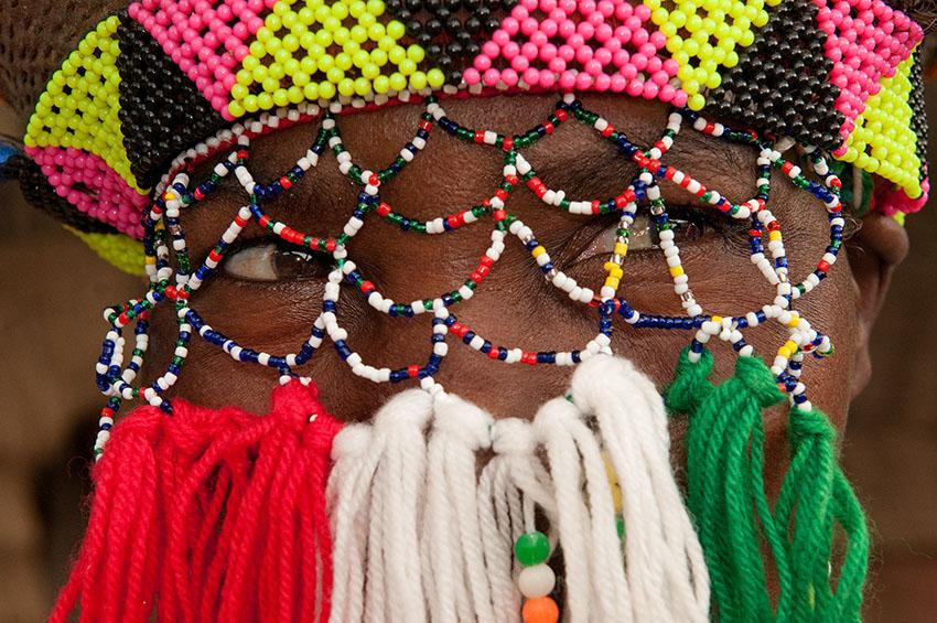 Traditioneller Perlenschmuck der Zulus