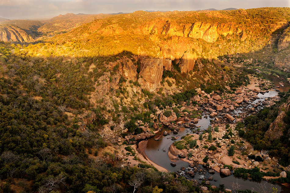 Traumblick auf die Lanner Schlucht mit dem Luvuvhu River